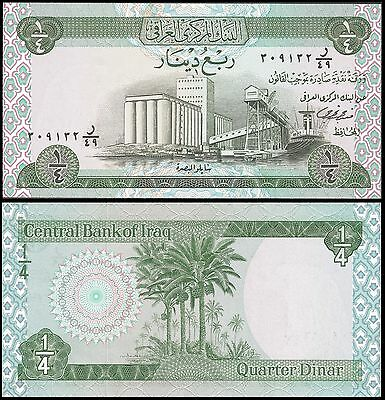 IRAQ 0.25 DINAR Sign 18 ND 1973 P 61 UNC