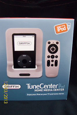 Griffin TuneCenter Home Media Center for iPod Dock+Remote  9802-TCENTNOFI