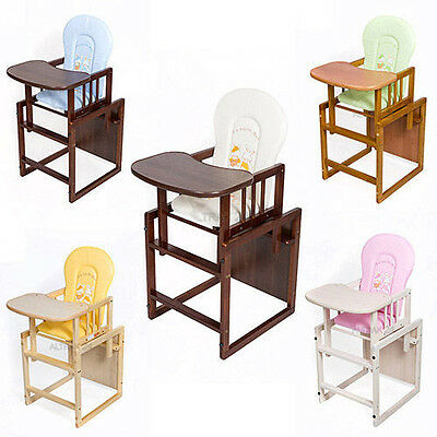 Feeding chair wood high chair Baby Table Set 2in1 play table Hochstuhl Holz kids
