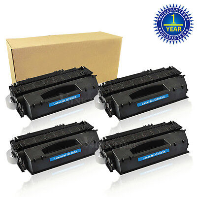 4x Q7553X Toner Cartridge For HP 53X LaserJet M2727 M2727NF M2727NFS MFP P2015X