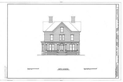 Victorian brick house with porches, traditional floor plan with bay window