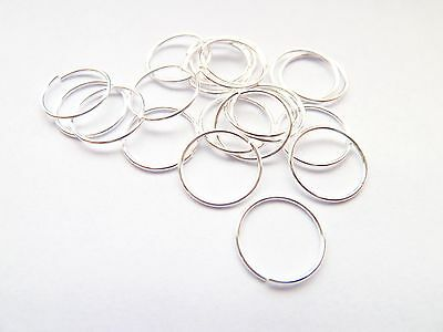 Sterling Silver Plain Nose Hoop Stud Ring Small 8mm or 10mm Pack of 20 Hoops