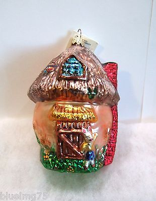 Radko Ornament Shroom With A View #971910 Mushroom Rabbit House NEW WITH TAG R2