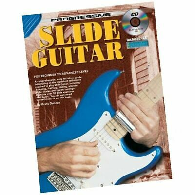 Progressive Slide Guitar Book with Cd Includes TAB Suit Beginner to advanced