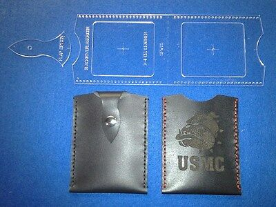 Slim Pocket Wallet Template Set -  For Leather Crafters Laser Made Precision
