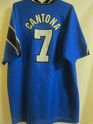 "Manchester United 1997-1998 Cantona away Football Shirt XL 45""-47"" /14798"