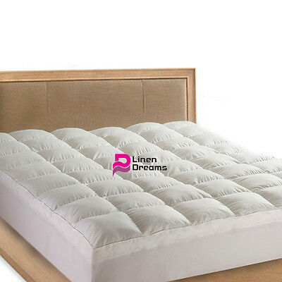 KING SINGLE-Luxury Pillowtop Mattress Topper / Protector-5 Star Hotel Quality