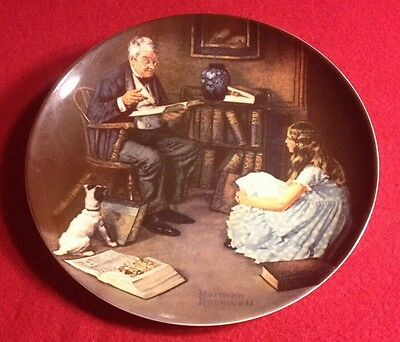 """Norman Rockwell Heritage  #8 - """"The Storyteller"""" - Knowles Collector's Plate"""