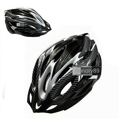 NEW Cycling Bicycle Adult Mens Bike Helmet Black carbon colour With Visor