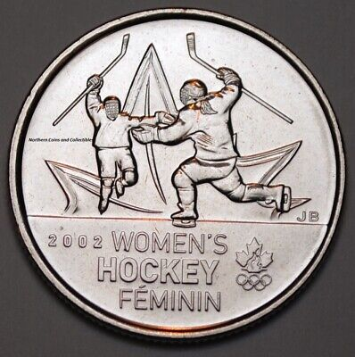 Canada 2009 25 cents Women's Hockey UNC -  BU Canadian Quarter
