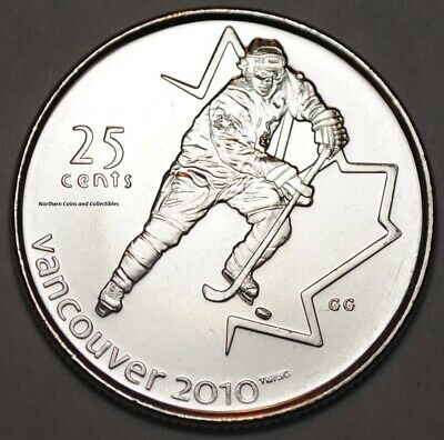 Canada 2007 25 cents Hockey UNC -  BU Canadian Olympic Quarter
