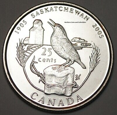 Canada 2005 Saskatchewan 25 cents Nice UNC from roll - BU Canadian Quarter