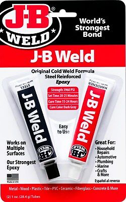 J-B EPOXY Glue Adhesive ORIGINAL & Best J B WELD 2 part Cold Weld Formula 8265-S