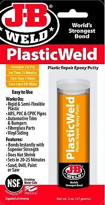 J-B Weld PlasticWeld PUTTY STiCK EPOXY Adhesive Repair plastic abs pvc GLUE 8237
