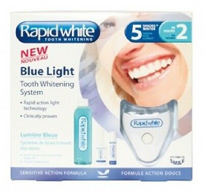 Rapid White Blue Light Tooth Whitening System-Brighter Teeth W/o Peroxide