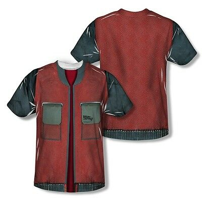 Back To The Future Jacket All Over Sublimation Poly Adult Shirt S-3XL