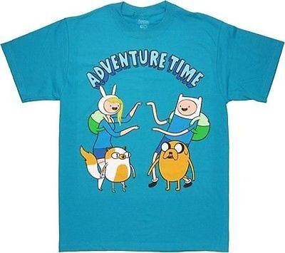 dfc84721f40 Adventure Time With Finn   Jake Twins Cartoon Network Tv Show Adult T Shirt  M