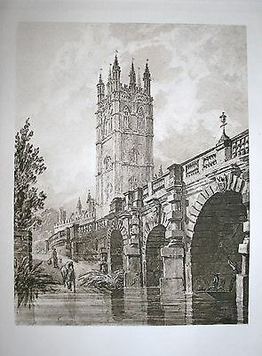 19th Century sepia photogravure from a watercolour drawing by William Turner.
