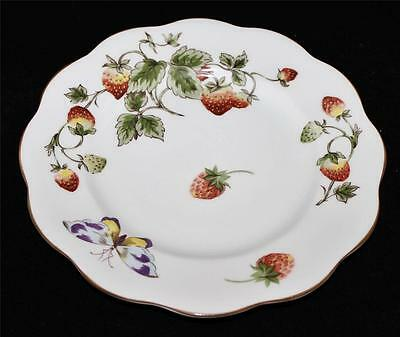 Coalport China, England STRAWBERRY Salad Plate, Excellent Condition