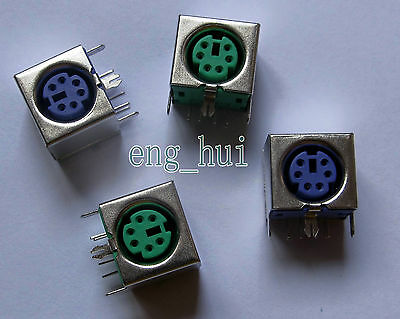 PS-2 Connector plug 6 Pin Female for Keyboard & Mouse Sockets 4 pcs