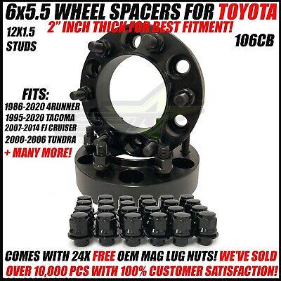 6X5.5 Hub Centric Wheel Spacers For Toyota 4Runner Tacoma 1.5 Inch 38mm 6x139.7