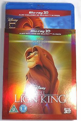 THE LION KING Brand New 3D BLU-RAY and 2D w/ SLIPCOVER Disney Movie Region-Free
