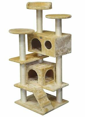 """53"""" Cat Tree House Toy Bed Scratcher Post Furniture F2024"""