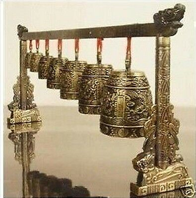 Chinese Musical Instrument Bronze Dragon Bell