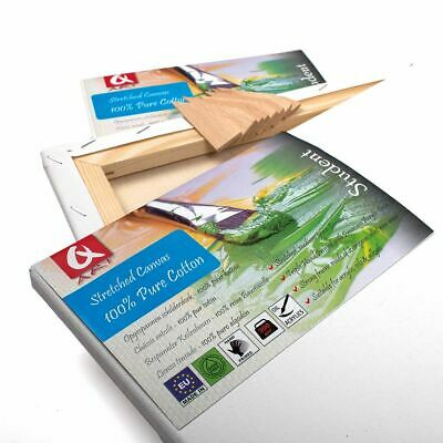 Set of 2x 30x100cm ( 12x40 inch) BLANK STRETCHED CANVAS GESSO PRIMED 100% COTTON