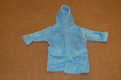 Baby Girl Boy Kids Fleecy Warm Dressing Gown Cosy Blue Pink Age 18-24 Or 4-5