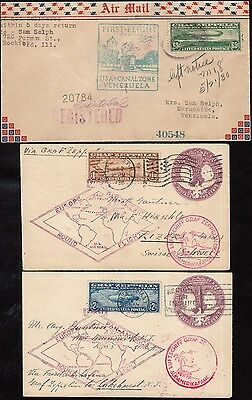 #c13-C15 First Flight Round The World Zeppelin Covers Wl5024