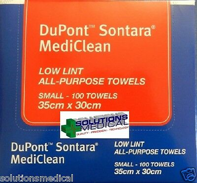 2 BOXES 100's DUPONT SONTARA SUPERIOR MULTIPURPOSE TOWELS INDUSTRY LEADER