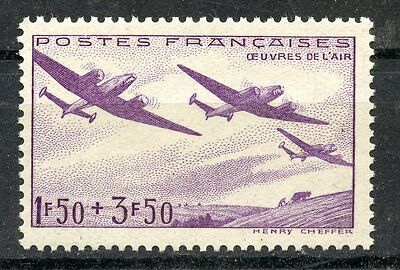 Stamp  /  Timbre France Neuf N° 540 ** Oeuvre De L'air Avion