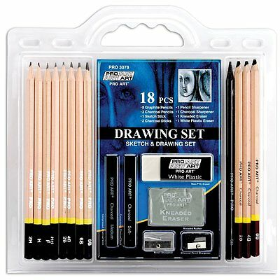 Pro Art 18-Piece Sketch/Draw Pencil Set, Free Shipping, New