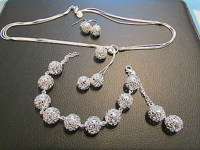 sterling silver jewellery set new for summer 2015 all Handmade stunning