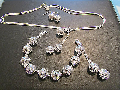 sterling silver jewellery set new for summer 2017 all Handmade stunning