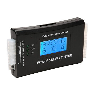 PC Computer Power Supply Tester HDD IDE SATA Adapter Test 20 24 Pin LED