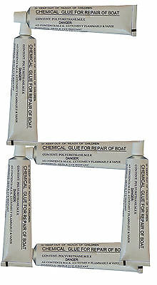6 x 30g Tubes of heavy duty repair glue for PVC INFLATABLE BOATS