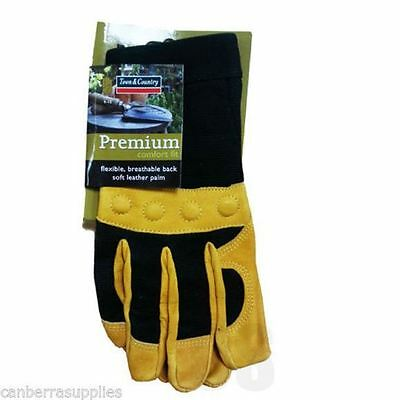 Town & Country Premium Comfort Fit Flexible Gardening Gloves - Medium Tgl432M