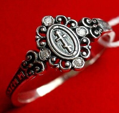 OLD STYLE RUSSIAN ORTHODOX SILVER 925 RING w/ CROSS. NEW PRAYER BAND. SALE !!!
