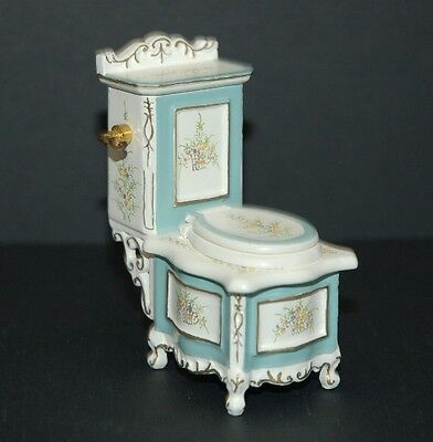 1/12th Scale Handpainted Toilet ~ Beautifully Handcrafted By Jia Yi!!!