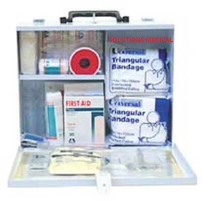 FIRST AID KIT CLASS B OH&S REG  (x1) METAL PORTABLE OR WALL HANGING UNIT