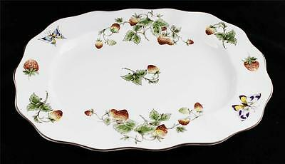 "Coalport China, England STRAWBERRY Oval Platter 11"" x 14.5"" Excellent Condition"