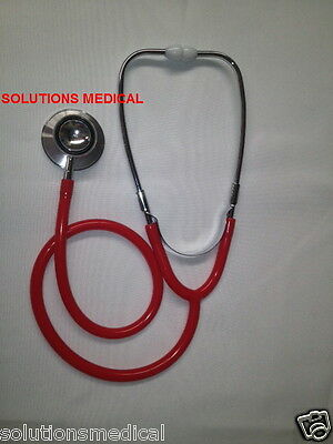 Stethoscope Dual Head 76Cm Boxed (Red)