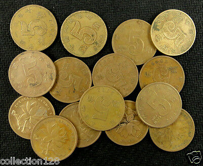 10 Pieces Used #1 China coins  5 Jiao 50 cents