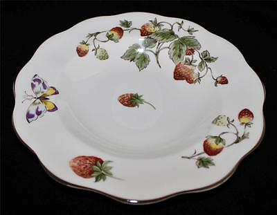Coalport China, England STRAWBERRY Wide Rimmed Soup Bowl, Excellent Condition
