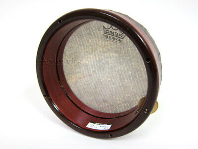"""New 7"""" Remo Kanjira South Indian Antique Style Frame Drum Tambourine"""