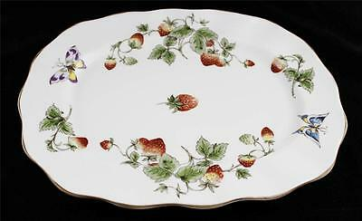 "Coalport China, England STRAWBERRY Oval Platter 9.5"" x 11.5"" Excellent Condition"