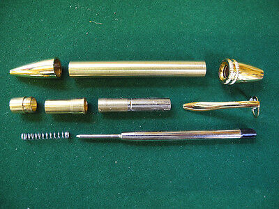Woodturning POLARIS Ball Point Pen Kit in Gold
