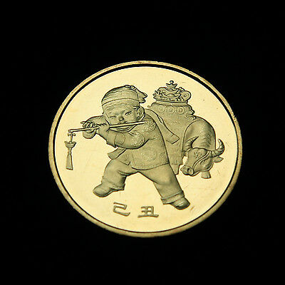 1* 2009 Chinese Lunar Year of the Cattle Ox commemorative coin UNC
